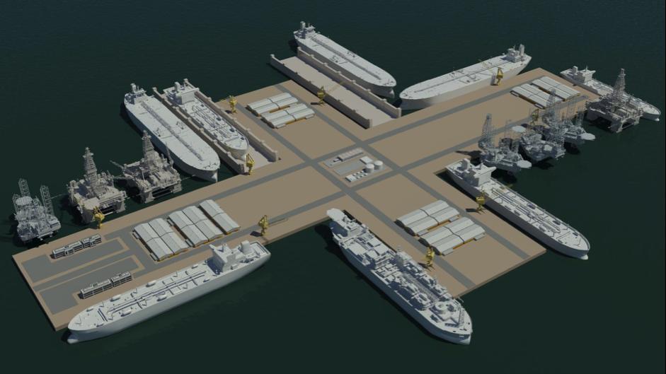 Applying VLFS for Shipyard Operations - Society of Floating